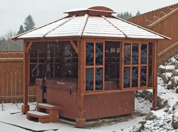 Fantastic Hot Tub Gazebo Kits Hot Tub Enclosure Kits Hot Tub Pavilion Kit Made Of Redwood