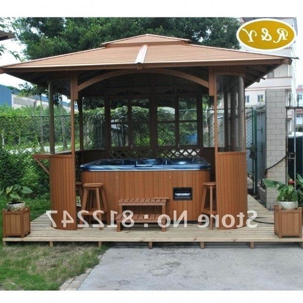 Fantastic Hot Tub With Gazebo For Sale Outdoor Spa Gazebo Creativealternativesco