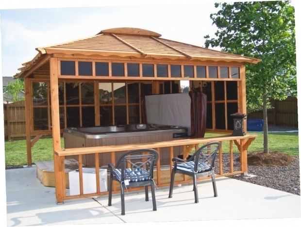 Fascinating Enclosed Gazebo For Hot Tub Enclosed Hot Tub Gazebo Gazebo Ideas