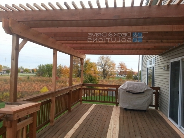 Fascinating How To Build A Pergola Over An Existing Deck Deck Addition And New Pergola Des Moines Deck Builder Deck And