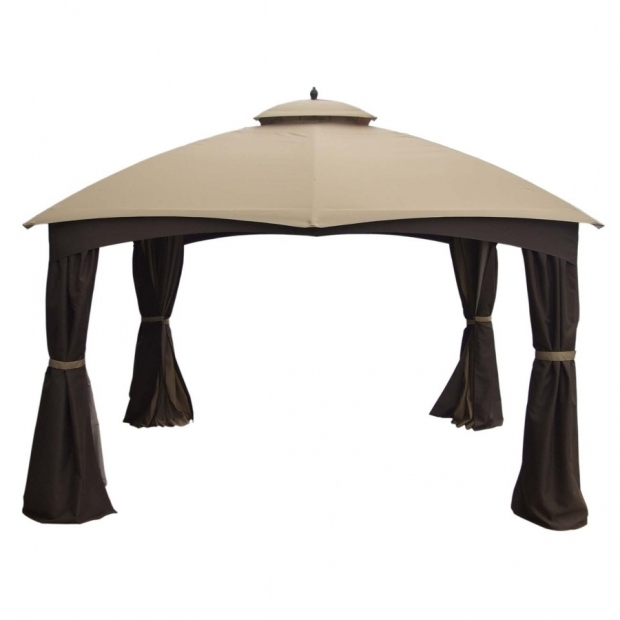 Fascinating Lowes Gazebo Allen Roth Shop Allen Roth 10 Ft X 12 Ft X 68 Ft Brown Steel Gazebo At