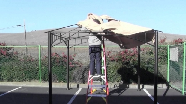 Fascinating Sunjoy Gazebo Assembly Instructions How To Install A Canopy For The Target Madaga Gazebo Youtube
