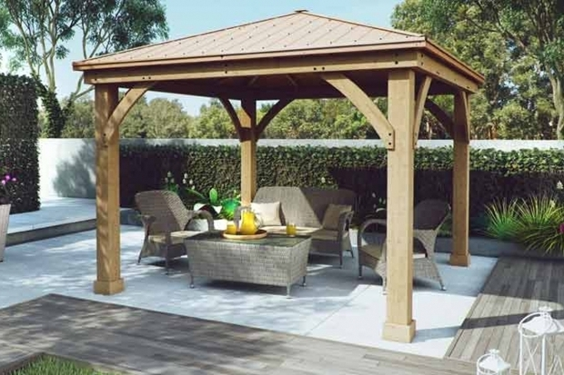 Gorgeous Cedar Wood Gazebo With Aluminum Roof 12x12 Yardistry Google