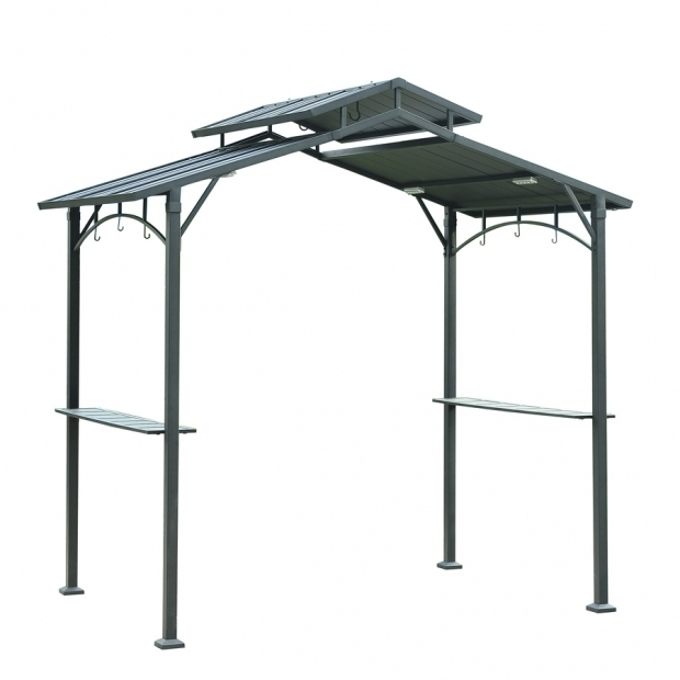 Gorgeous Sunjoy Grill Gazebo Shop Sunjoy Brown Steel Rectangle Grill Gazebo Exterior 5 Ft X 8