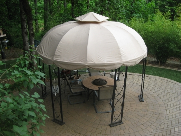 Image of 8x8 Gazebo Canopy Replacement Lowes Garden Allen Roth Curtains Allen Roth Gazebo Lowes Gazebo