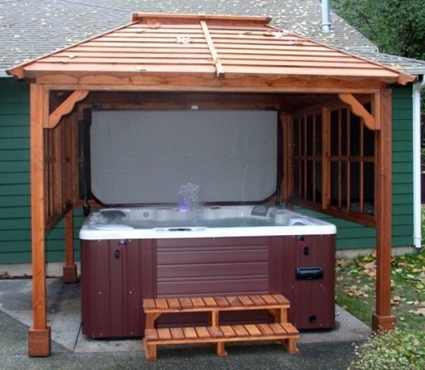 Image of Hot Tub Gazebo Kits Hot Tub Gazebos Kits Ideas Design Home Ideas
