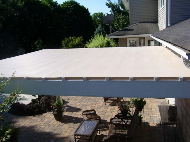 Image of Retractable Fabric Pergola Covers Custom Fabricated Pergola Covers