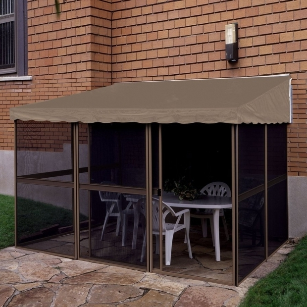 Incredible Add A Room Gazebo Shop Gazebo Penguin Add A Room Sandtaupe Aluminum Rectangle