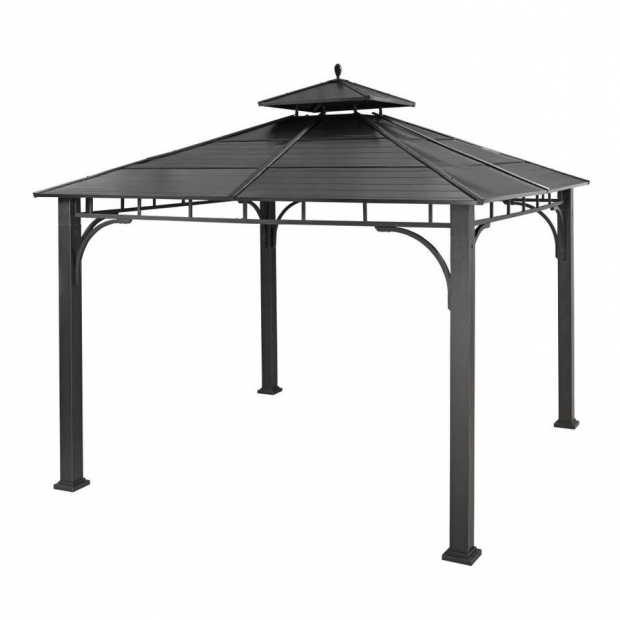 Incredible Lowes Gazebo Allen Roth Shop Allen Roth Black Metal Square Grill Gazebo Exterior 102