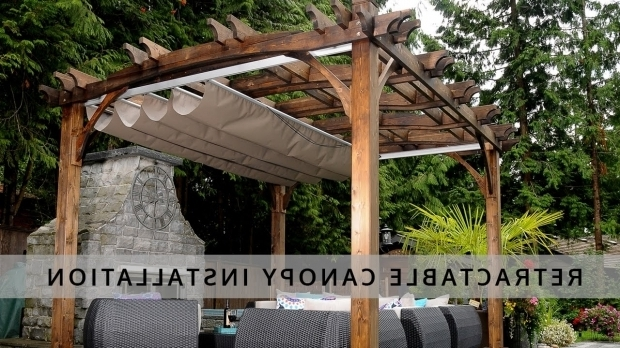 Incredible Pergola With Retractable Shade Retractable Pergola Canopy Installation Olt Youtube