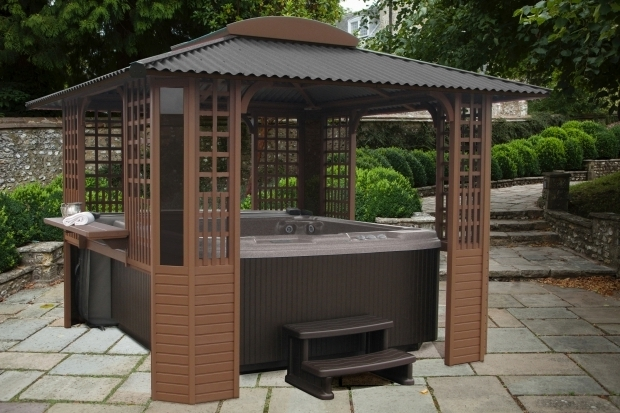 Gazebo for hot tub pergola gazebo ideas for Hot tub shelters