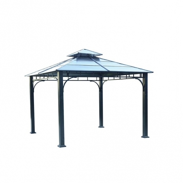 Inspiring Lowes Gazebos For Sale Shop Sunjoy Black Steel Square Gazebo Exterior 1089 Ft X 1089