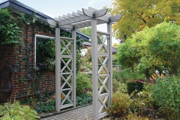 Inspiring Yardistry Pergola Yardistry Entry Arbor With X Panels Garden Furniture