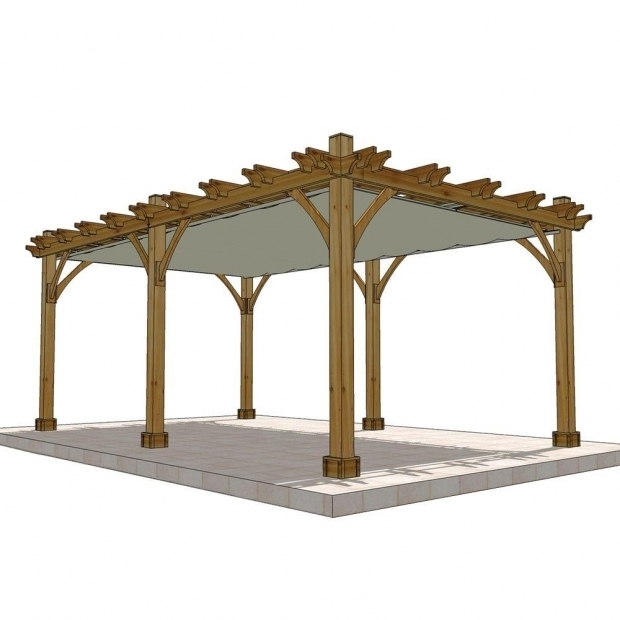 Marvelous Home Depot Pergola Outdoor Living Today Breeze Cedar 12 Ft X 20 Ft Pergola With