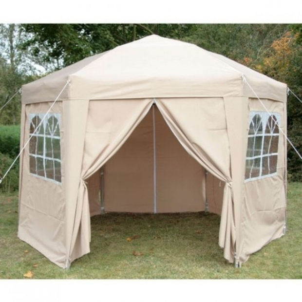 Marvelous Pop Up Gazebo With Sides Airwave 35m Hexagonal Pop Up Gazebo 6 Side Panels Beige Pop Up
