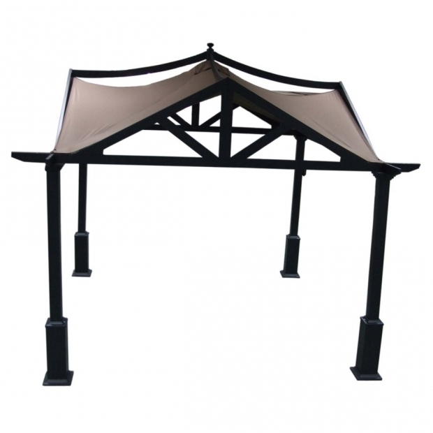 Outstanding Allen Roth Brown Steel Gazebo Shop Allen Roth 10 Ft X 10 Ft X 120 In X 6 Ft 9 In Brown Steel