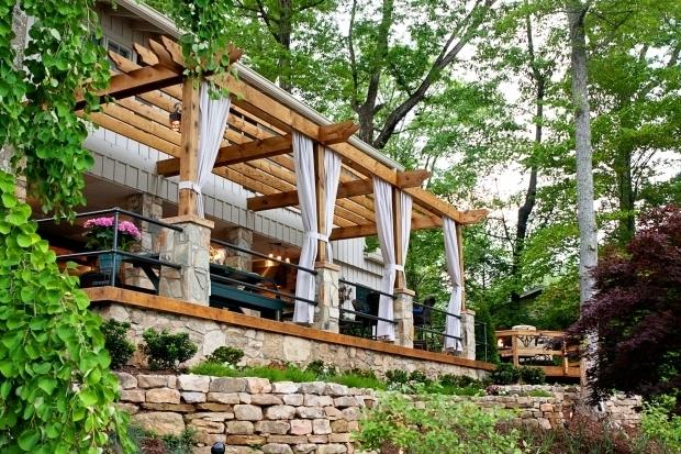 Outstanding Outdoor Curtains For Pergola Pergola Pictures Livinator