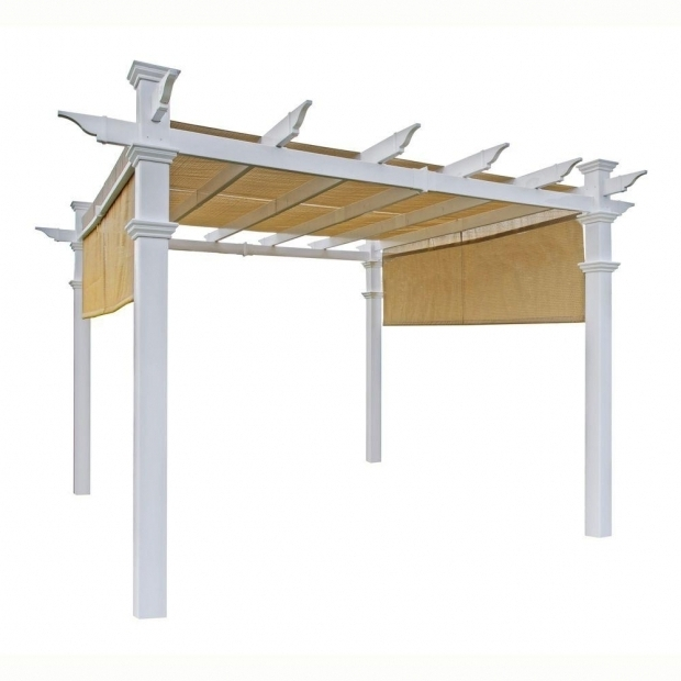 Outstanding Steel Pergola With Canopy Home Depot Hampton Bay 9 Ft X 9 Ft Steel And Aluminum Arched Pergola With