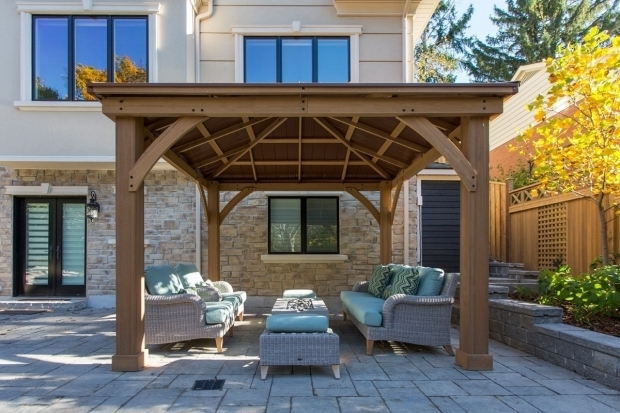 Outstanding Wood Gazebo With Aluminum Roof Wood Gazebo With Aluminium Roof