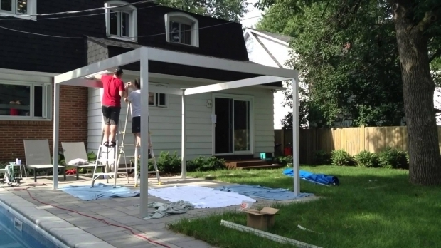 Picture of Aluminum Gazebo Kits My Diy Pergola Built Out Of Aluminum Youtube