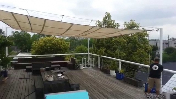Stunning Retractable Shade Cloth Pergola Retractable Sun Shade Bahama Rigging Youtube