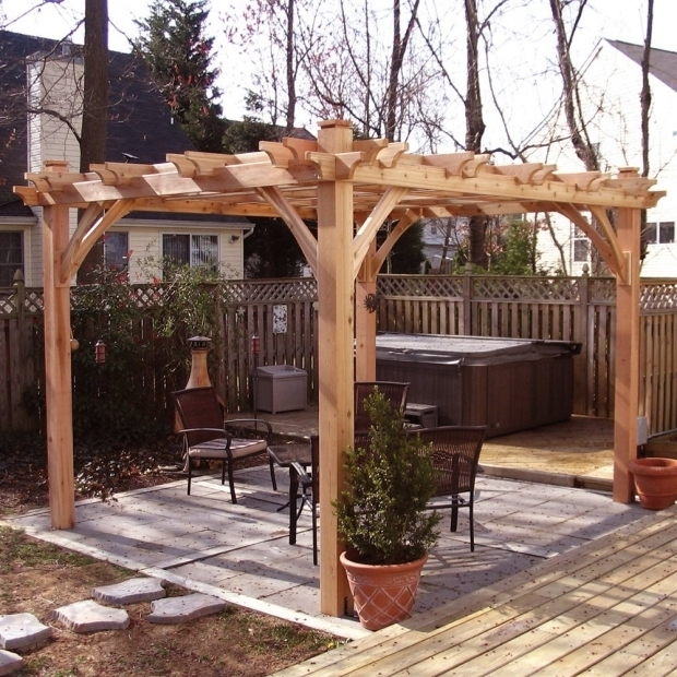 Stunning Wood Pergola Kits Lowes Outdoor Living Today Bz810 8 Ft X 10 Ft Cedar Breeze Pergola