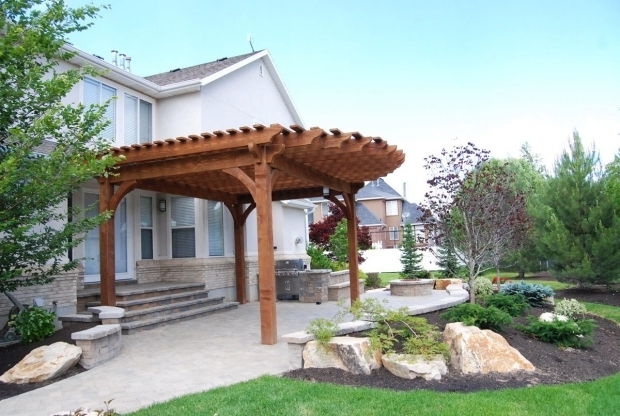 Stylish Cantilever Pergola Plans More Shade Plan Diy Solid Cedar Wood Cantilevered Pergola