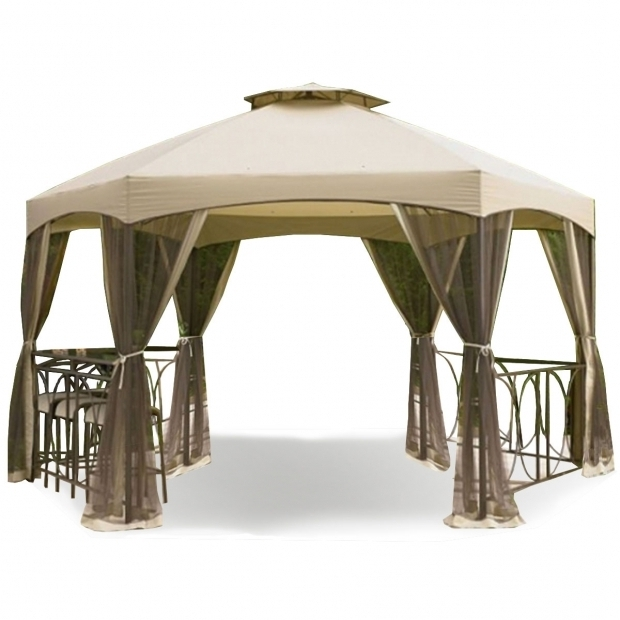 Stylish Garden Winds Gazebo Kmart Jaclyn Smith Dutch Harbor 145 Ft Hexagon Gazebo