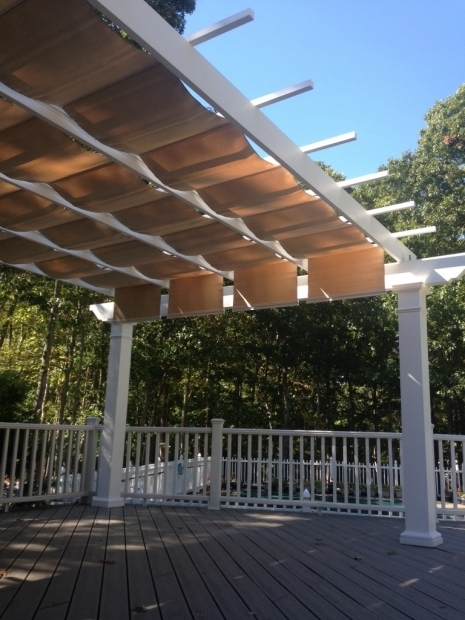 Stylish Retractable Fabric Pergola Covers Trex Pergola Kit With Canopy Long Island New York
