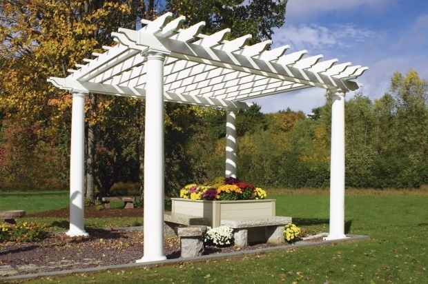 Stylish Vinyl Pergola Parts Vinyl Pergola Kits Hoover Fence Company