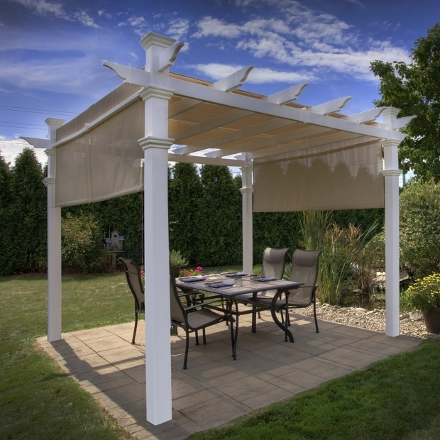 Stylish Wood Pergola Kits Lowes New England Arbors Va42057 Eden Malibu Pergola Lowes Canada