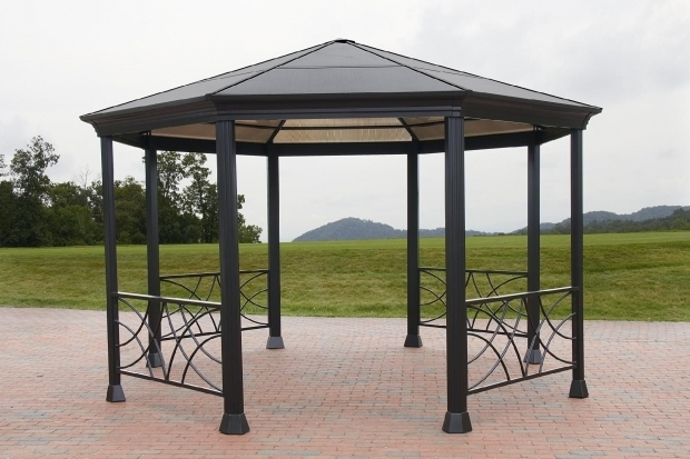 Awesome Sunjoy Royal Square Hardtop Gazebo Roof Beautiful Gazebo Roof Panels Sunjoy 12 Ft 12 Ft Royal