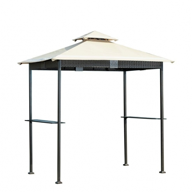 Remarkable 8 X 5 Grill Gazebo Replacement Canopy Sunjoy 8 Ft X 5 Ft Wicker Grill Gazebo L Gg067pst The Home Depot