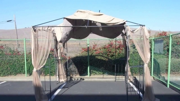 Stylish Replacement Gazebo Canopy Covers How To Install A Home Depot Arrow Gazebo Replacement Canopy Youtube