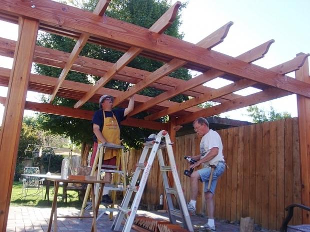 Awesome How To Build A Pergola Over A Patio The Carpenters Hands Building A Pergola