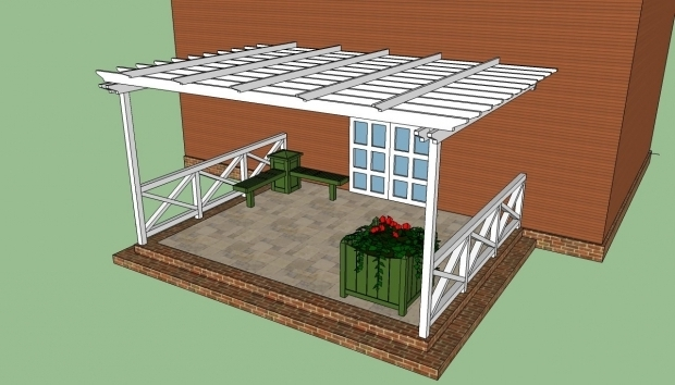 Fascinating How To Build A Pergola Attached To The House Attached Pergola Plans Howtospecialist How To Build Step