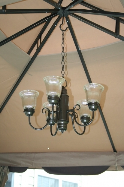 Fascinating Outdoor Solar Chandeliers For Gazebos Gazebo Lighting Ideas