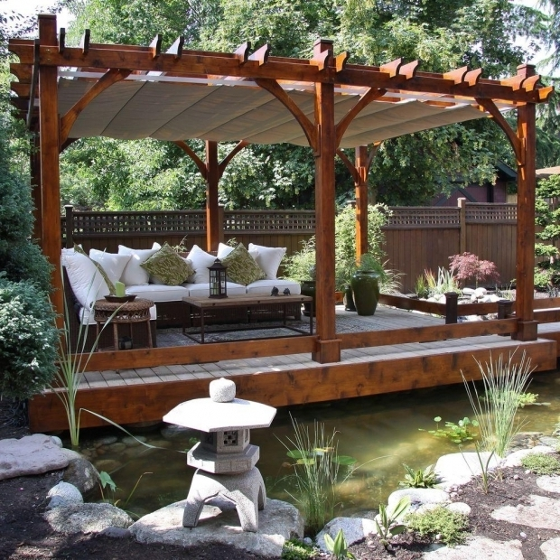 Fascinating Pergola With Retractable Canopy Outdoor Living Today Breeze Cedar 12 Ft X 20 Ft Pergola With
