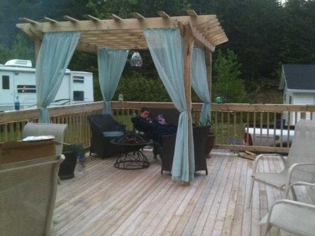 Gorgeous Outdoor Curtains Pergola Pergola Curtains For Around The Hot Tub Covered With Plastic