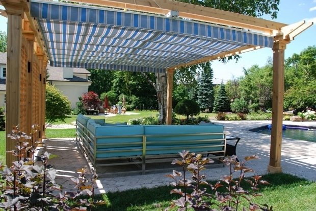 Image of Pergola With Retractable Canopy Retractable Pergola Canopy In Oakville Shadefx Canopies