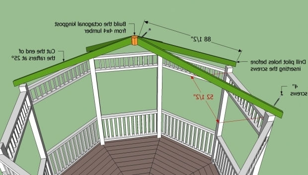 Octagon Gazebo Roof Plans