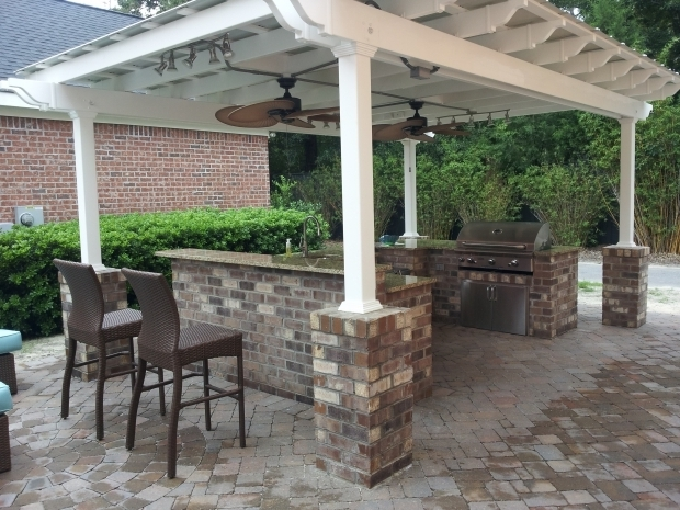 Vinyl Pergola With Retractable Canopy