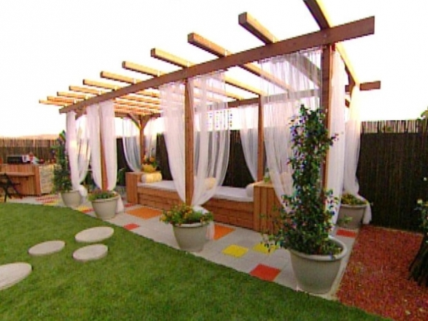 Outstanding How To Build A Pergola Over A Patio Build A Pergola For A Deck Or Patio Hgtv