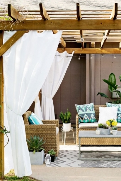 Outstanding Outdoor Curtains Pergola 25 Best Ideas About Pergola Curtains On Pinterest Deck With