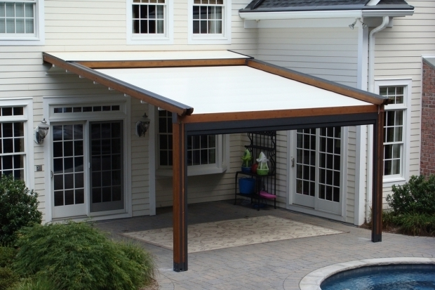 Outstanding Retractable Shade Pergola Private Residence Landscape Pool And Patio Application Northern