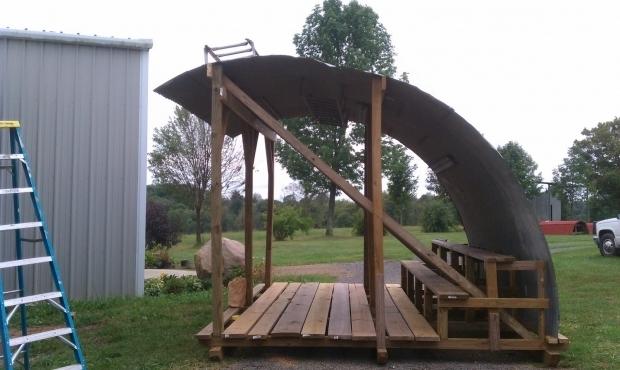 Picture of Grain Bin Gazebo Stone Gate Farm Daves Big Idea Part 1