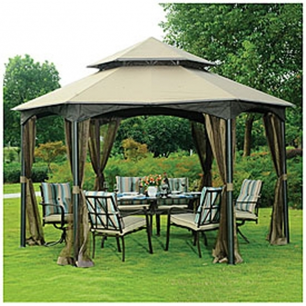 Picture of Wilson & Fisher Sonoma Gazebo Wilson And Fisher Sonoma 10 X 12 Gazebo Dropress Gazebos