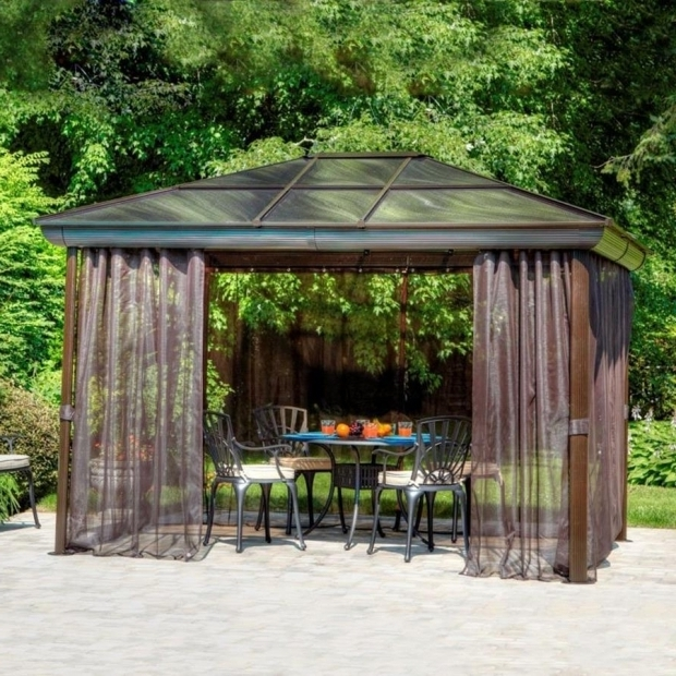 Stunning Penguin Gazebo Inc Shop Gazebo Penguin Brown Aluminum Rectangle Screened Gazebo