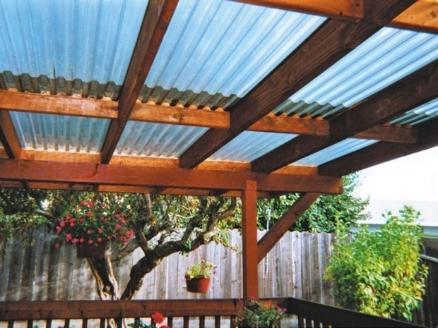 Alluring Pergola With Metal Roof Attached Pergola With Metal Roofing Outdoor Pergola Roof