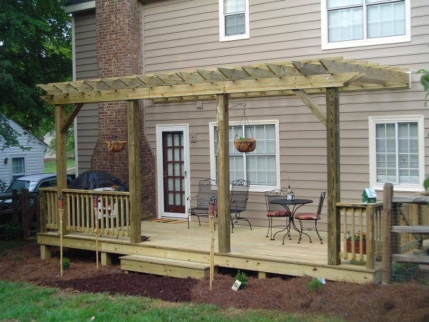 Awesome Pergola Over Deck Backyard Decks And Patios Treated Deck Composite Deck Wood